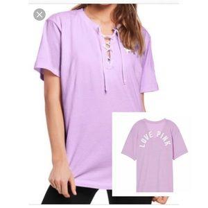 Pink victoria's Secret campus T-shirt